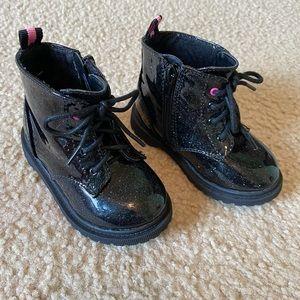 Black Glitter Sparkle Boots
